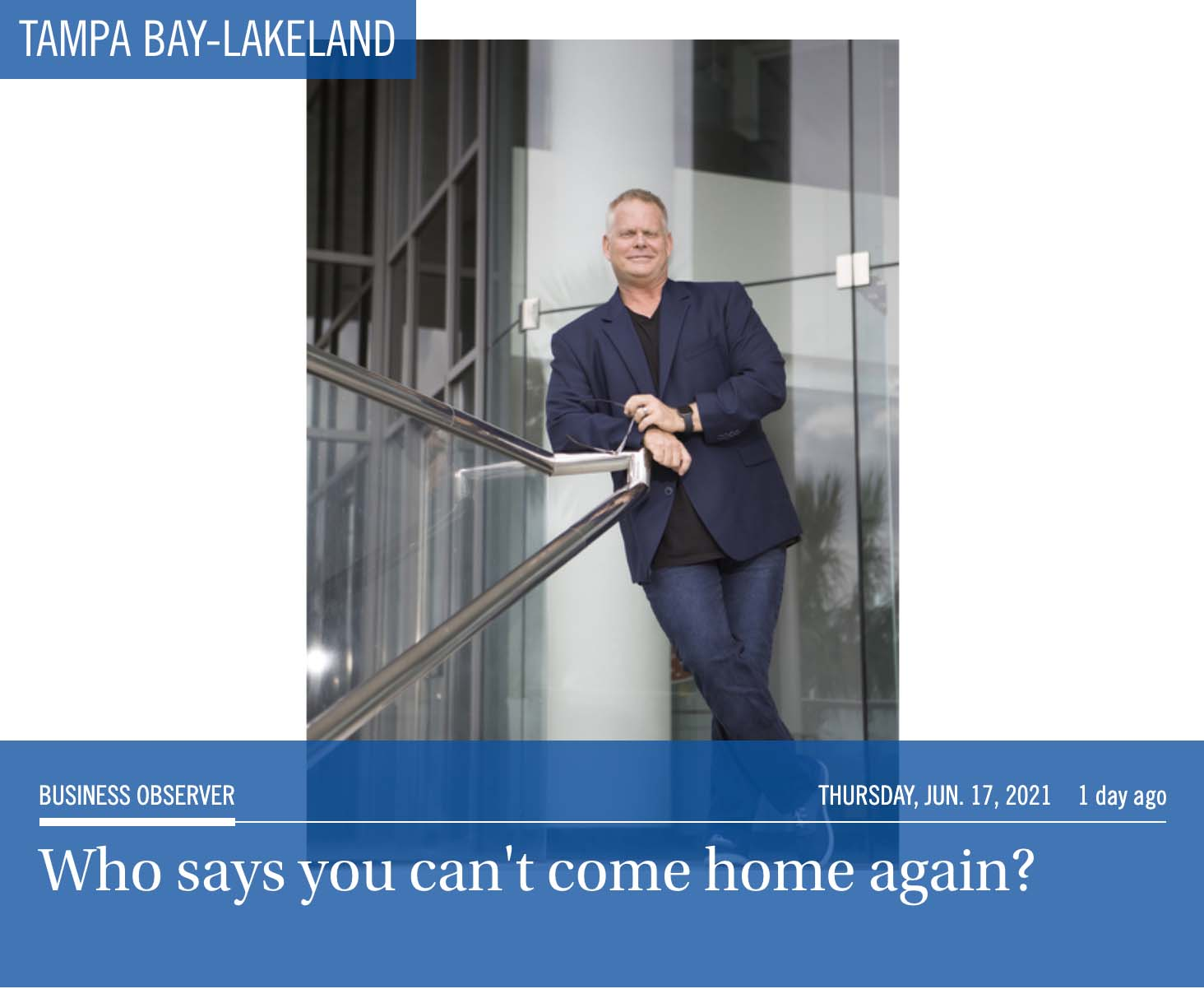 """Featured image for """"Who says you can't come home again?"""""""
